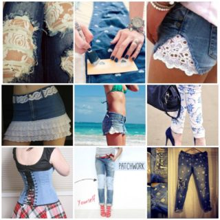 26 Ideas and Tutorials to Refashion Your Old  Jeans