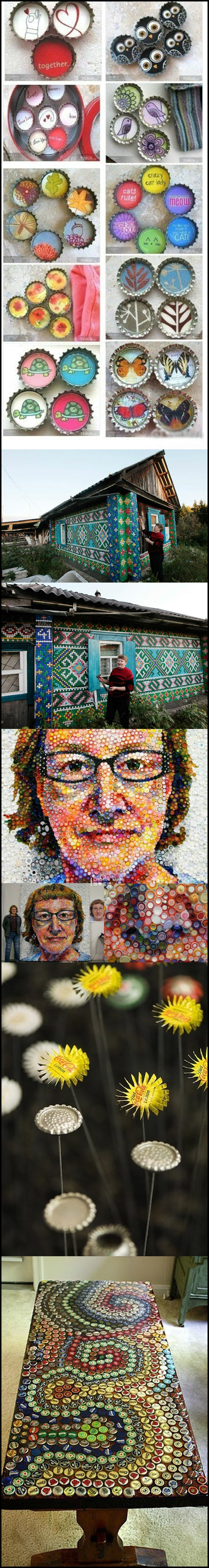Bottle cap art m Wonderful bottle cap art