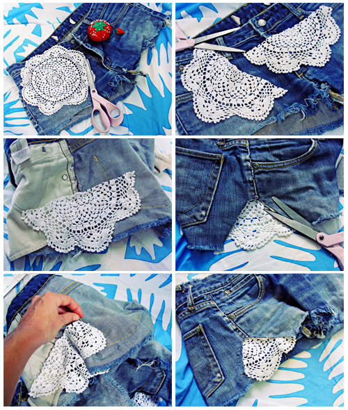 Crochet Cutoffs jeans shorts-wonderfuldiy2