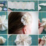 Wonderful DIY lace flower pin