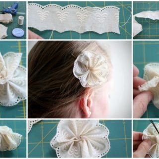 Wonderful DIY lace flower pin
