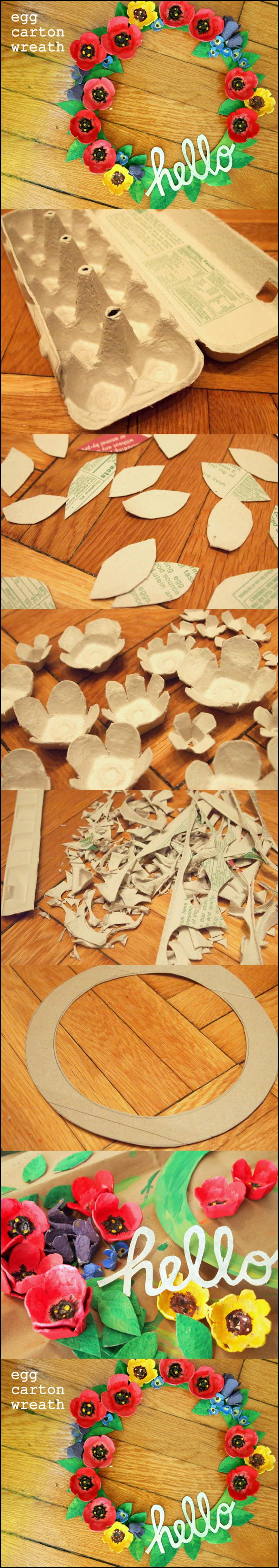 Egg carton wreath m Wonderful DIY egg carton wreath