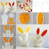 Wonderful DIY hand bunny toy