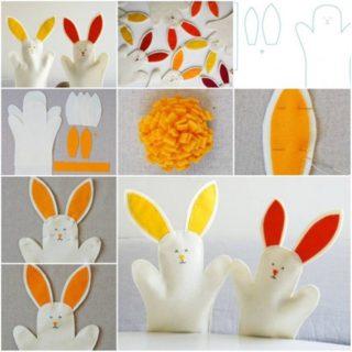 Wonderful DIY hand bunny toy