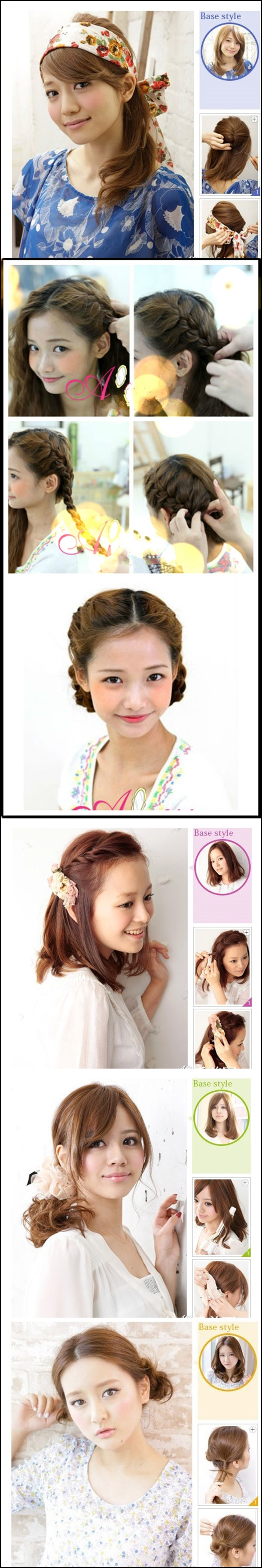 Korea hairstyle m1 Wonderful DIY 5 Korea hairstyles
