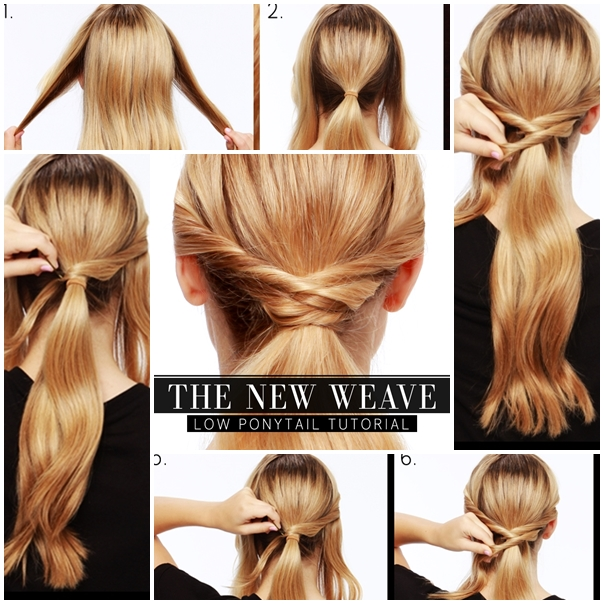 Wonderful diy low woven ponytail hairstyle solutioingenieria Choice Image