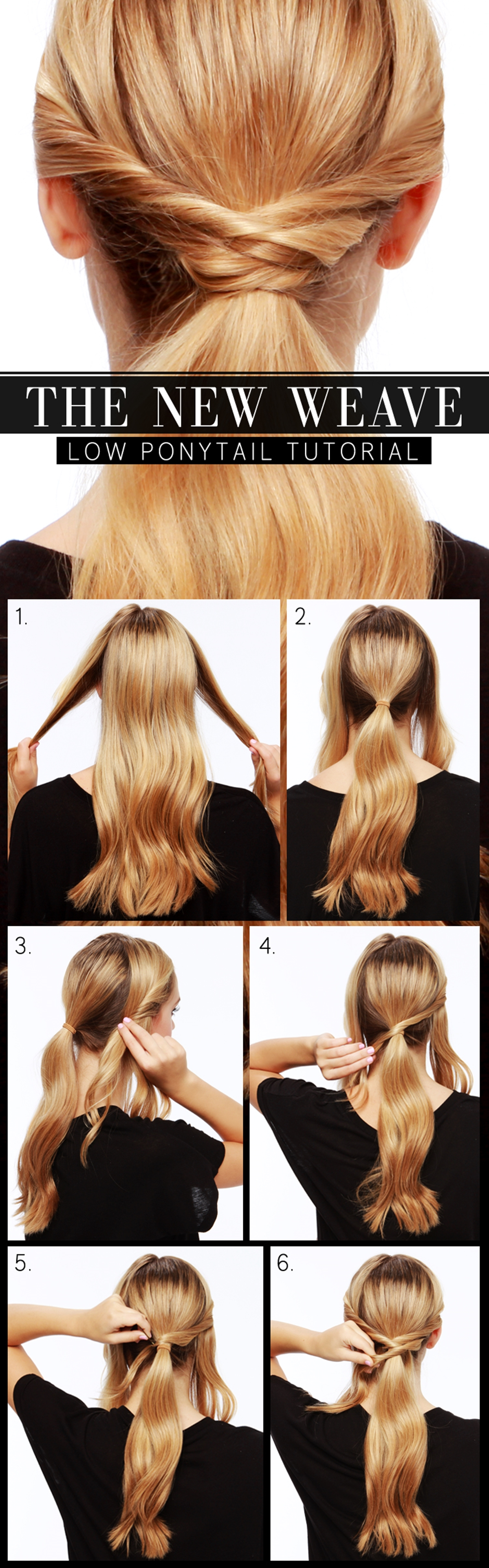 LowWovenPonytai m Wonderful DIY  Low woven Ponytail hairstyle