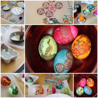 Wonderful DIY napkin egg decorating