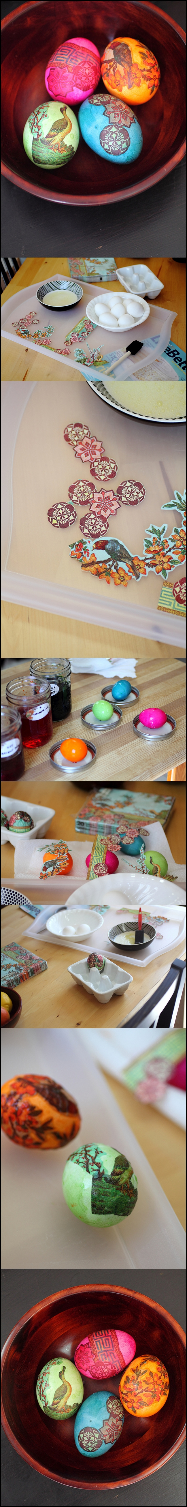 Napkin Egg Decorating m Wonderful DIY napkin egg decorating