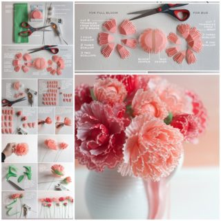 Wonderful DIY Peonies from cupcake wrappers