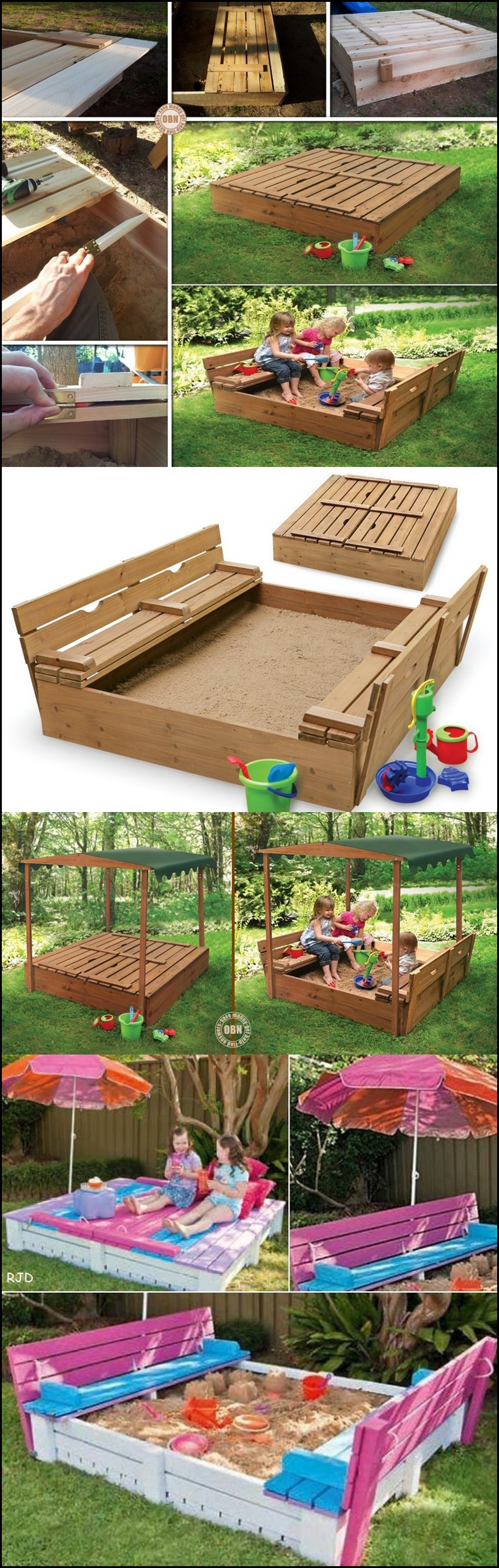 Sandbox with Cover m Wonderful DIY Sandbox with cover