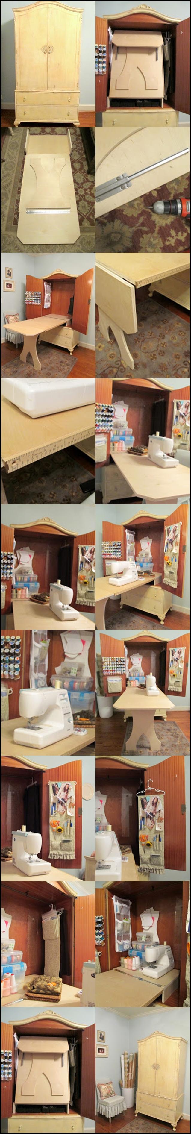 Sewing Cabinet m Wonderful DIY Sewing Cabinet