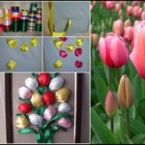 Wonderful DIY Simple Ribbon Tulip Flower