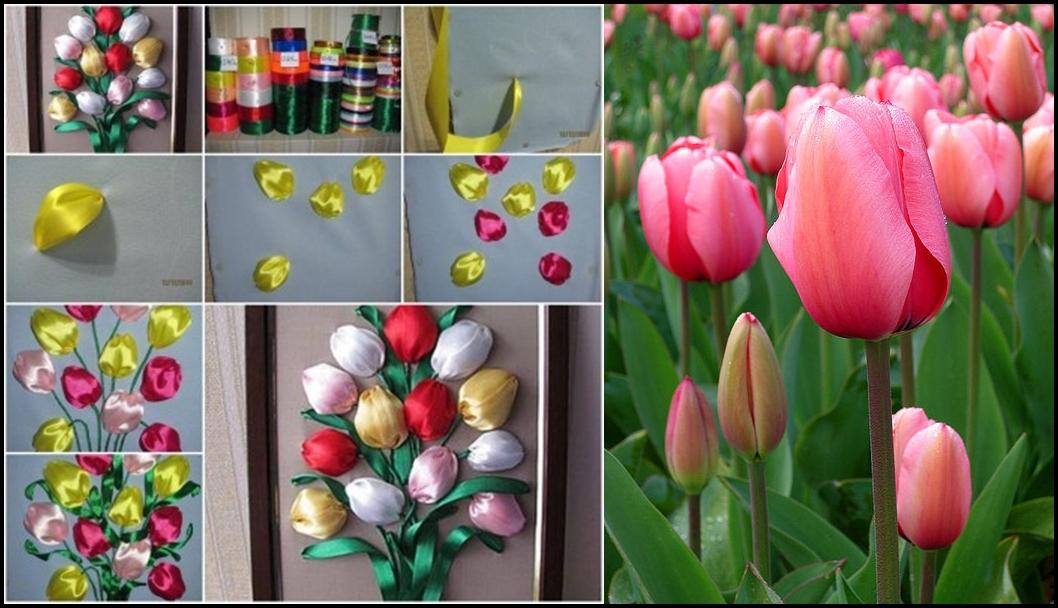 Simple Ribbon Tulip Flower  F