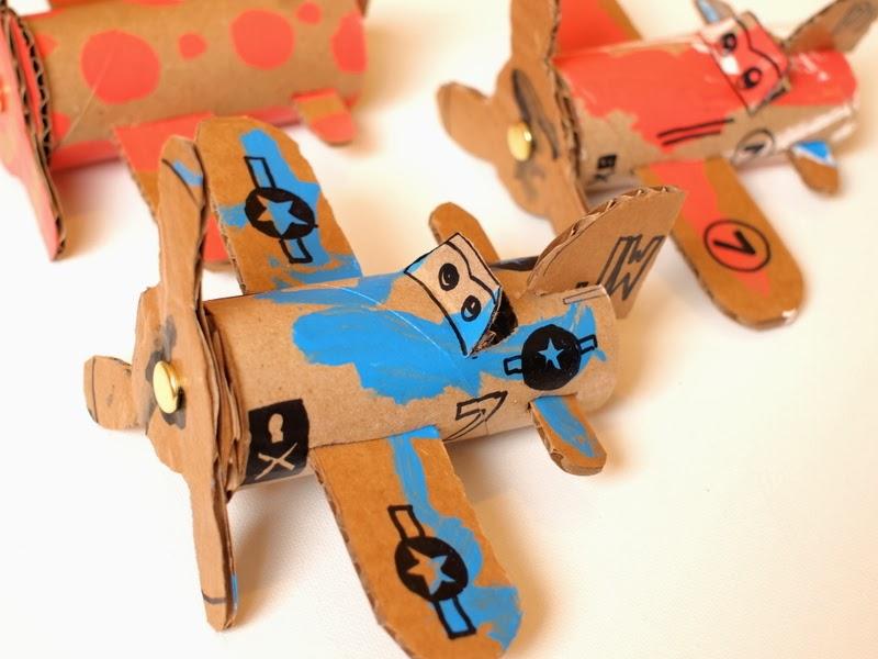 Toilet Roll Airplanes  Wonderful DIY Toilet Roll Airplanes