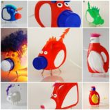 Creative transformation of the old detergent bottles