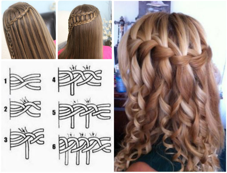 8 fantastic princess hairstyles for your sweetie mermaid heart hairstyle tutorial view in gallery waterfall braid wonderful diy solutioingenieria Image collections