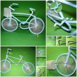 Wonderful DIY bicycle from drinking straw