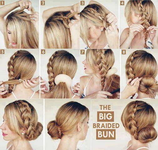 big braided bun