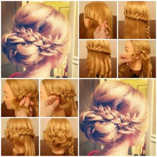 Wonderful DIY braided bun hairstyle