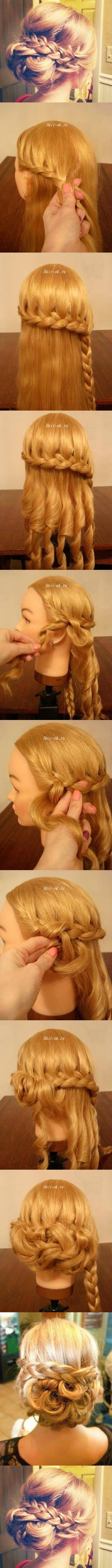braided bun hairstyle m Wonderful DIY braided bun hairstyle