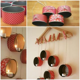 Wonderful DIY tin candle holder