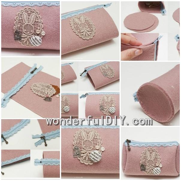 Wonderful DIY beautiful clutch bag
