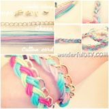 Wonderful DIY colorful braided bracelet