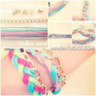 Wonderful DIY colorful braided bracelet