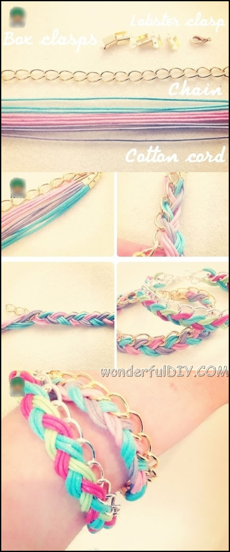 colorful braid bracelet m w Wonderful DIY colorful braided bracelet