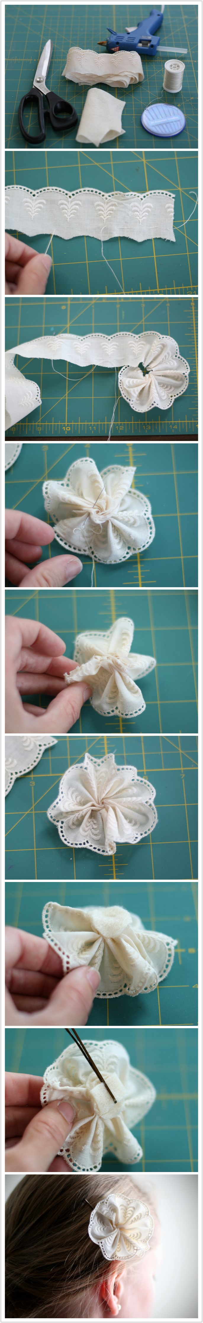 creative lace flower pin DIY Wonderful DIY lace flower pin