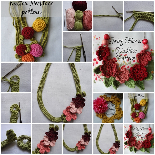 Wonderful Diy Crochet Flower Necklace