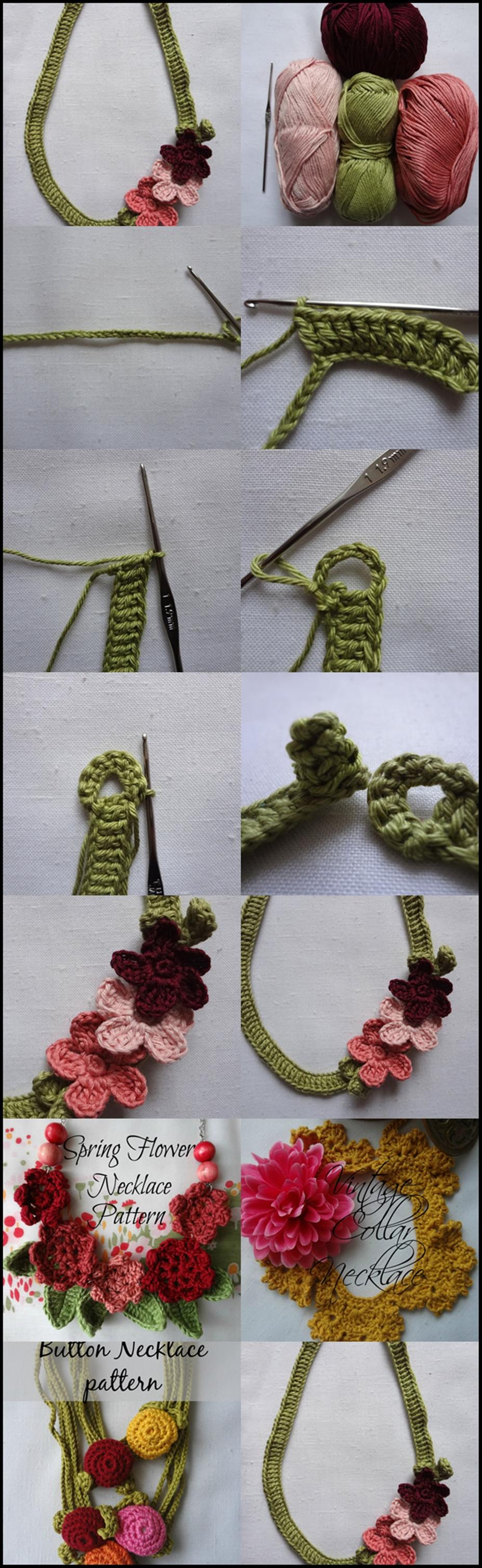 crochet Flower Necklace m Wonderful DIY Crochet Flower Necklace