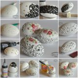 Wonderful DIY eggshell embroideries