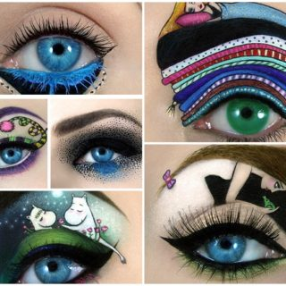 Wonderful eye art of make up