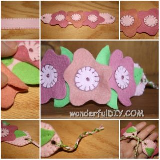 Wonderful DIY flower bracelet