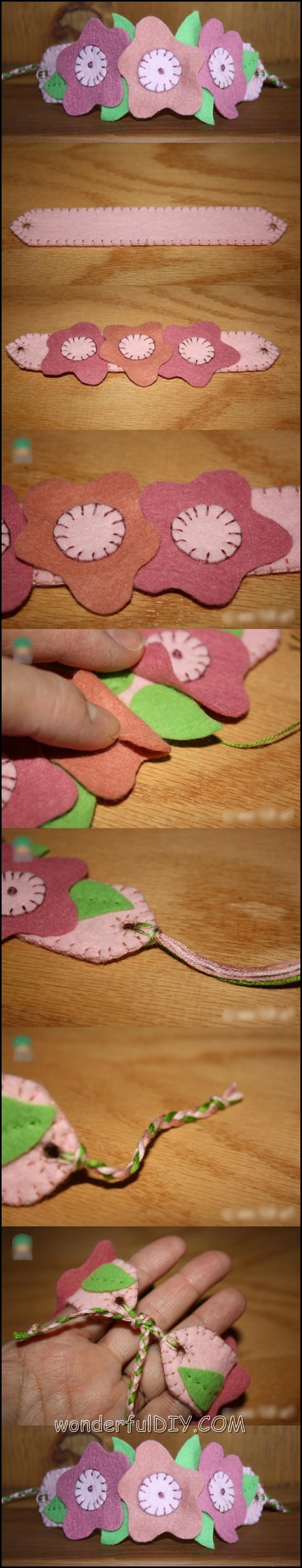 flower bracelet m.w Wonderful DIY flower bracelet