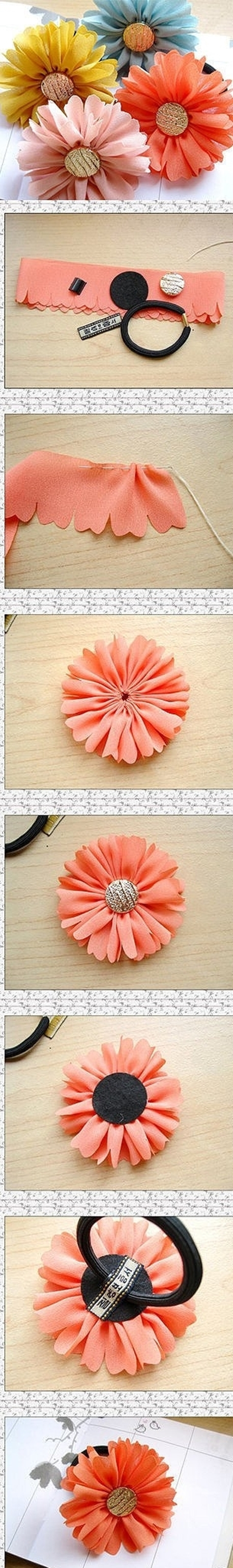 flower head band m Wonderful DIY beautiful hair band