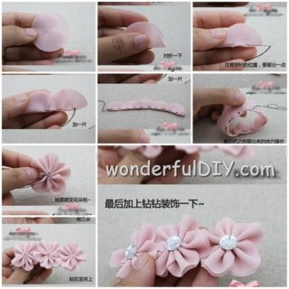 Wonderful DIY flower hairpin