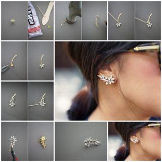 Wonderful DIY beautiful leafy earrings