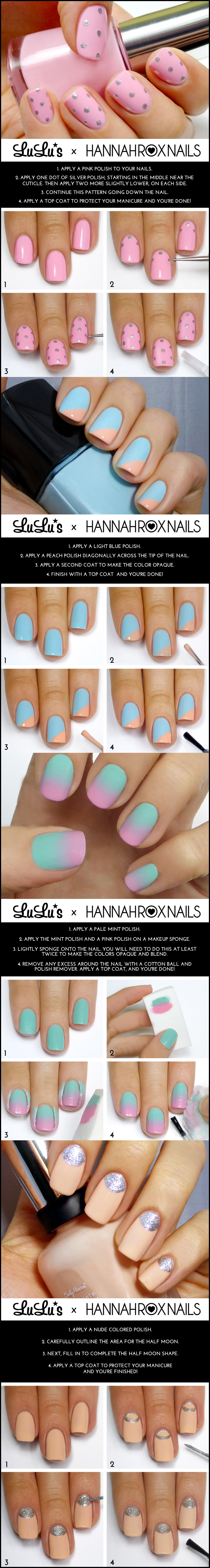 nail m Wonderful DIY 4 nail styles