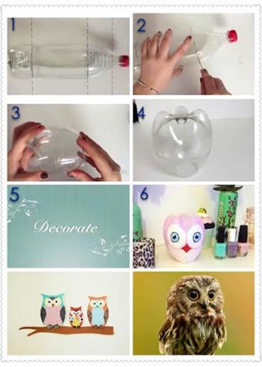 owl with coke bottle f Wonderful DIY lovely owls Out of coke bottle