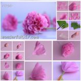 Wonderful DIY pink paper rose