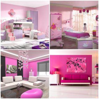 Creative pink room