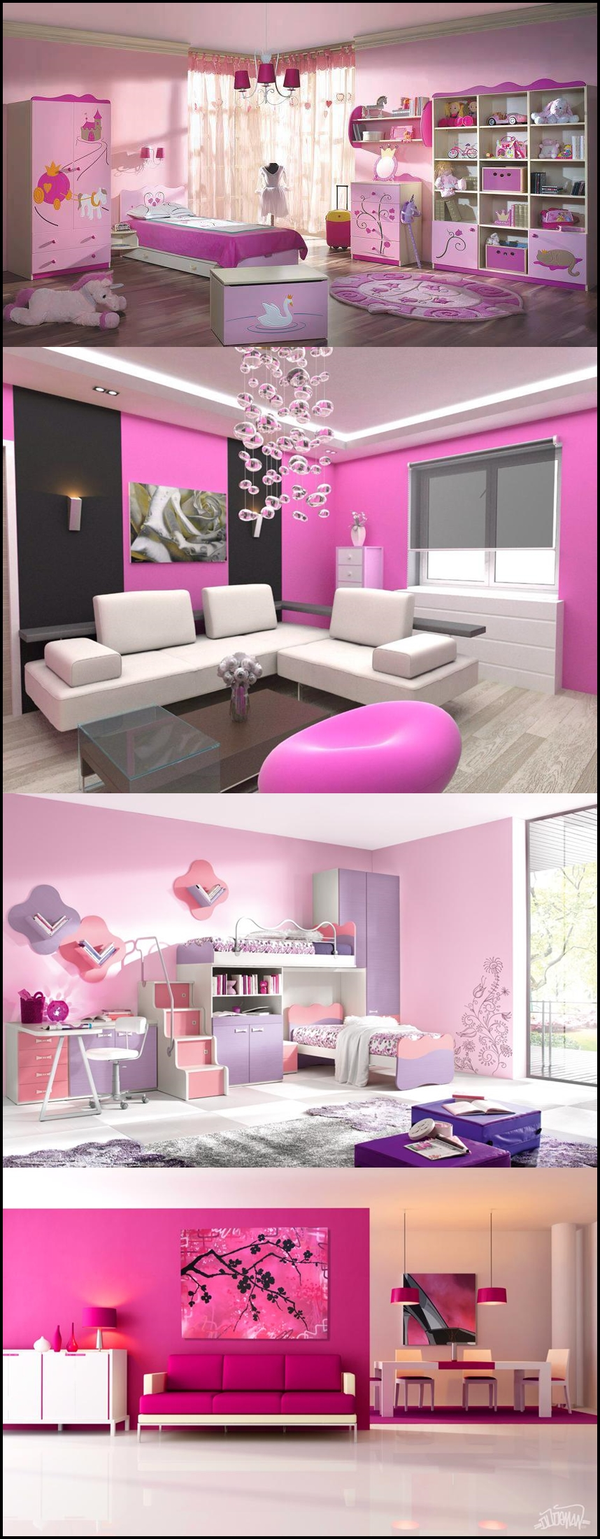 pink room m Creative pink room