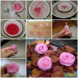 Wonderful DIY rose candle