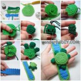Wonderful DIY knitted turtle bracelet