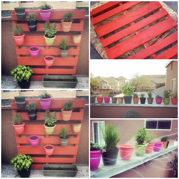 vertical pallet garden f DIY Vertical Pallet Planter For The Garden