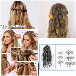 Wonderful DIY waterfall braid hairstyle