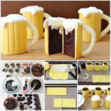 Wonderful DIY Beer Mug Cupcakes with Baileys Filling